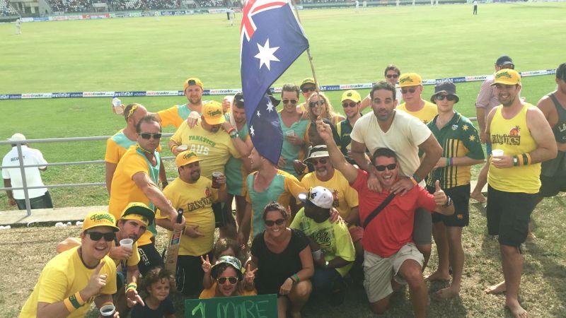 C'mon Aussie C'mon, Dominica, WestIndies.